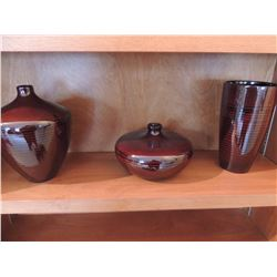 3 Pc's of Decorative Pottery $75 to $150
