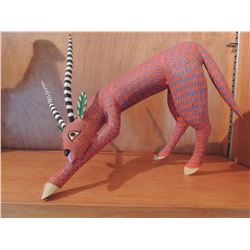 "Decorative Wood, ""Untitled Antelope"", by Manuel Jimenez - Signed 9""H x 13""W x 9""L $145 to $290"