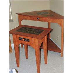 Ornate Corner Table and matching Side Table $75 to $150