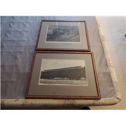 2 Railroad Car and station pictures $35 to $70