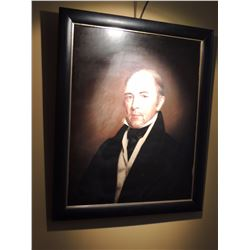 "Oil Painting, ""Portrait of Samuel Huntington"" 1839, 31""H x 26""W $250 to $500"