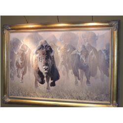 """Oil Painting, """"Full Throttle"""", by Kyle Sims - signed 40""""H x60""""W (Appraised for $16,000)"""