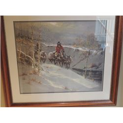 """Print, """"Winter Pack String"""" 28""""H x 34""""W - Signed. G Harvey $265 to $530"""