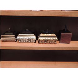 3 Decorative Boxes and 1 Wine Cork Holder $45 to $90
