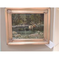 """Oil Painting, """"Outlet Swan Lake"""" by Robert F Morgan - Signed 16""""H x 20""""W $1200 to $2400"""