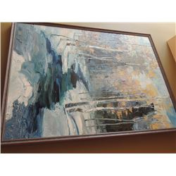 """Oil Painting, """"Winter Retreat"""" by Troy Colin - Signed.  40""""H x 30""""W $300 to $600"""