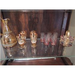 Gold Ring Glass Set $100 to $225