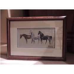 "Horse Print by Ann A Overstreet 15""W x 13.5""H $75 to $150"