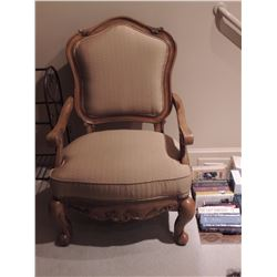 Upholstered Side Chair with Wooden Arms $150 to $300