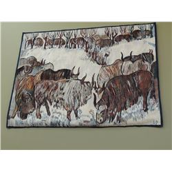 Large Wall Hanging Rug - Bison $25 to $75
