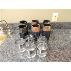6 Ceramic Mugs and 5 Mixed Drink Glasses $10 to $25