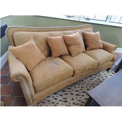 Upholstered Sofa with nailhead trim (Hancock & Moore) $250 to $500