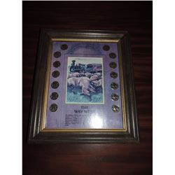 14 Buffalo Nickels in Frame $75 to $150