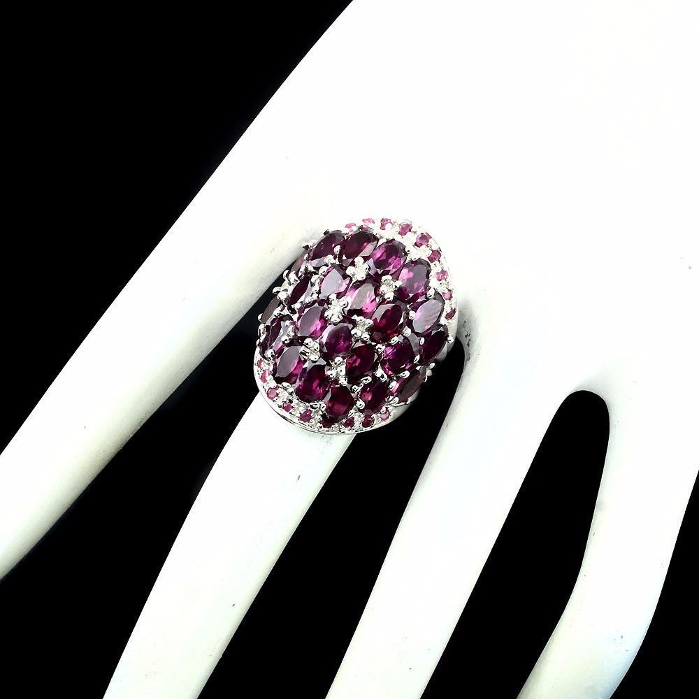 pink rings raspberry garnet natural rhodolite image ruby ring