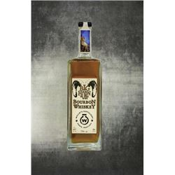 Bighorn Bourbon (750ml) & Belt Buckle Flask (3 oz) and funnel