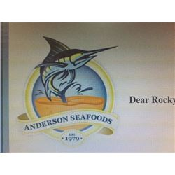 Anderson Seafoods $500 Gift Certificate