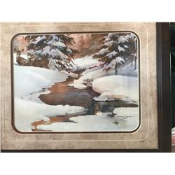 "Framed print ""Cache Creek Winter"""