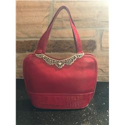 Red Leather Brighton Handbag