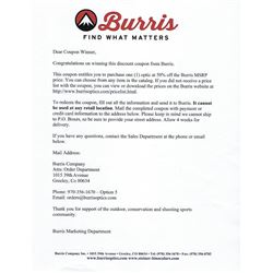 Burris Optics 50% off MSRP Coupon. Item #2
