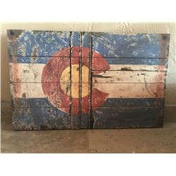 Colorado Flag Print on Wood