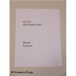 Seven Psychopaths Screen Used Script Title Page Movie Props