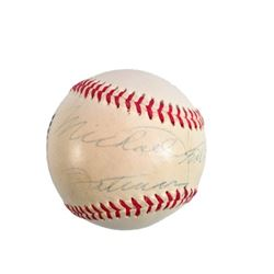 Michael Keaton Signed Baseball