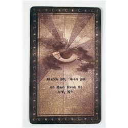 Now You See Me Hero Tarot Card Movie Props