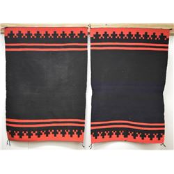 PAIR OF NAVAJO NAVAJO DRESS HALF'S