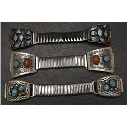 THREE NAVAJO WATCH BANDS