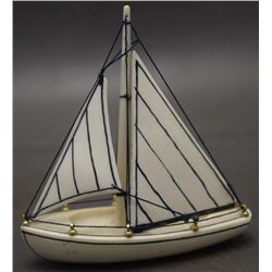 INUIT IVORY SAILBOAT ( CARL O IYAKITAN)