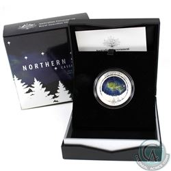 Australia; Perth Mint 2016 $5 Northern Sky 'Cassiopeia' Fine Silver Domed Coin (Tax Exempt)