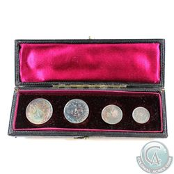 Great Britain; 1895  4-coin Maundy Coin Set in original Mint case. Set includes 4,3,2,&1 Silver Penc
