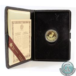 Canada 1985 Canada $100 National Parks 22k Gold Coin in Original Display Case with COA.