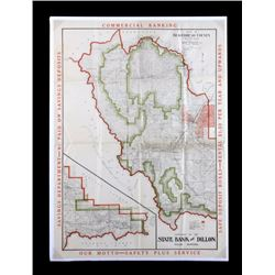 1917 Beaverhead County Montana Map