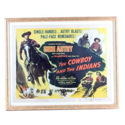 The Cowboy and the Indians Gene Autry Poster 1949