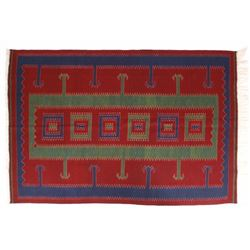 Zapotec Native American Indian Hand-Spun Wool Rug