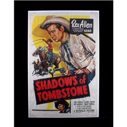 Original Shadows of Tombstone Movie Poster 1953