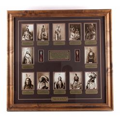 Chiefs of The Little Bighorn Framed Display