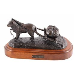 G.C. Wentworth Dog 'n' Travois Bronze Sculpture