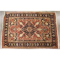 Persian Hariz Style Hand-Knotted Rug