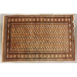 Persian Bokhara Style Hand-Knotted Wool Rug