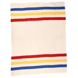Wool Blanket In The Hudson's Bay Style