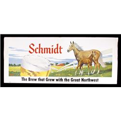Schmidt Beer Cardboard Lithograph Advertising Sign