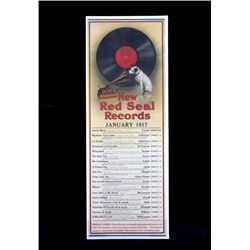 Original 1917 RCA Victor Red Seal Records Poster