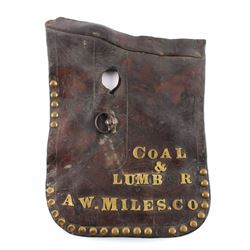 A.W. Miles Co. Coal & Lumber Leather Saddle Skirt