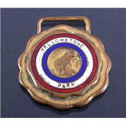 Early Yellowstone National Park Enameled Watch Fob