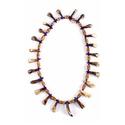 Plains Indian Buffalo Teeth Necklace