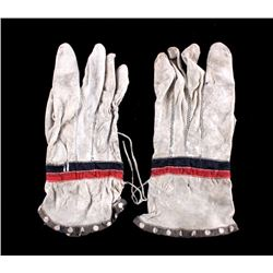 Eskimo Reindeer Dress Gloves 19th C.