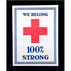 Original Red Cross WWI Poster