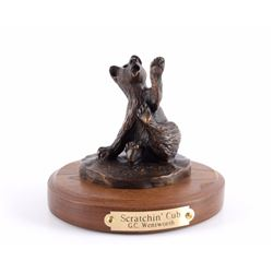 G.C. Wentworth Bear Cub Bronze Sculpture